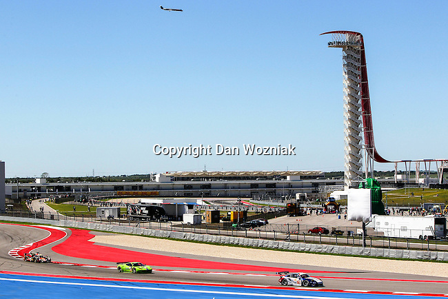 WEC race cars in action during the World Endurance Championship Race (FIA/WEC) at the Circuit of the Americas race track in Austin,Texas.