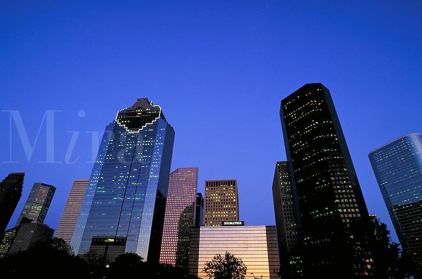 Houston skyline at dusk. Houston Texas.