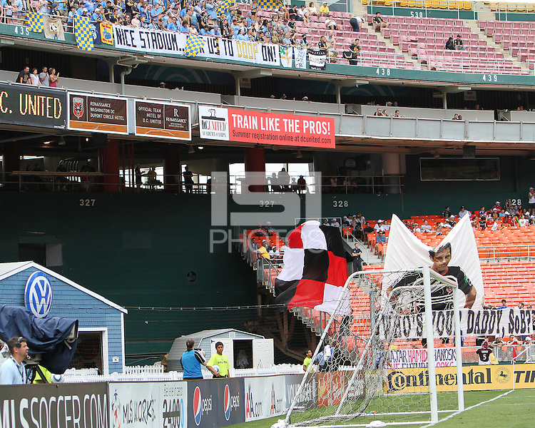 Fans of D.C. United and of the Philadelphia Union during an MLS match at RFK Stadium on August 22 2010, in Washington DC. United won 2-0.