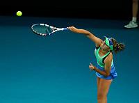 1st February 2020; Melbourne Park, Melbourne, Victoria, Australia; Australian Open Tennis, Day 13, ladies singles final; Sofia Kenin of USA serves during her match against Garbine Muguruza of Spain