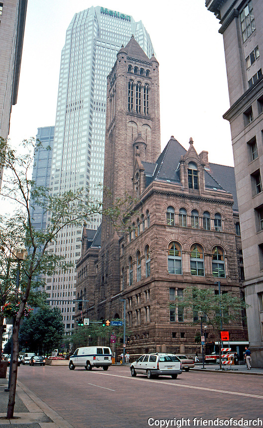 H. H. Richardson: Allegheny County Courthouse, Pittsburgh. 1884-1888. Grant St. facade.