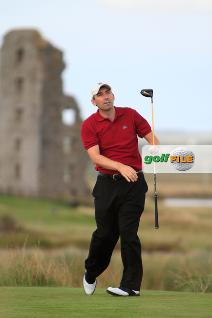 Stephen Moloney (Castletroy) on the 13th tee during the South of Ireland Amateur Open Championship Second Round at Lahinch Golf Club  28th July 2013 <br /> Picture:  Thos Caffrey / www.golffile.ie