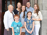 Ella Fanning from LeCheile school who was confirmed in St Mary's church pictured with her family. Photo:Colin Bell/pressphotos.ie