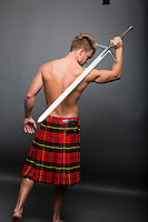 HISTORICAL KILT themed STOCK image for romance novel book cover art by Jenn LeBlanc for Studio Smexy and Illustrated Romance.<br />