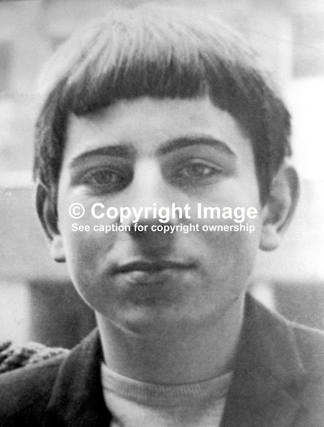 Martin Skillen, 21 years, Roman Catholic, from Norgen Gardens, West Belfast, who was shot dead by British troops at the junction of Sevastapol Street and the Falls Road, Belfast, N Ireland, on 3rd August 1974. It is alleged he was preparing to mount an attack on rival Official IRA members. It was claimed that Skillen was a member of the 2nd Battalion, Provisional IRA. He had earlier been interned on the prison ship Maidstone and then at Long Kesh. For more information go to Lost Lives 1170. 197408030424<br /> <br /> Copyright Image from Victor Patterson, 54 Dorchester Park, Belfast, UK, BT9 6RJ<br /> <br /> t1: +44 28 9066 1296 (from Rep of Ireland 048 9066 1296)<br /> t2: +44 28 9002 2446 (from Rep of Ireland 048 9002 2446)<br /> m: +44 7802 353836<br /> <br /> e1: victorpatterson@me.com<br /> e2: victorpatterson@gmail.com<br /> <br /> www.victorpatterson.com<br /> <br /> IMPORTANT: Please see my Terms and Conditions of Use at www.victorpatterson.com