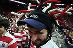 25 January 2015: NC State bandmember. The North Carolina State University Wolfpack played the University of Notre Dame Fighting Irish in an NCAA Division I Men's basketball game at the PNC Arena in Raleigh, North Carolina. Notre Dame won the game 81-78 in overtime.