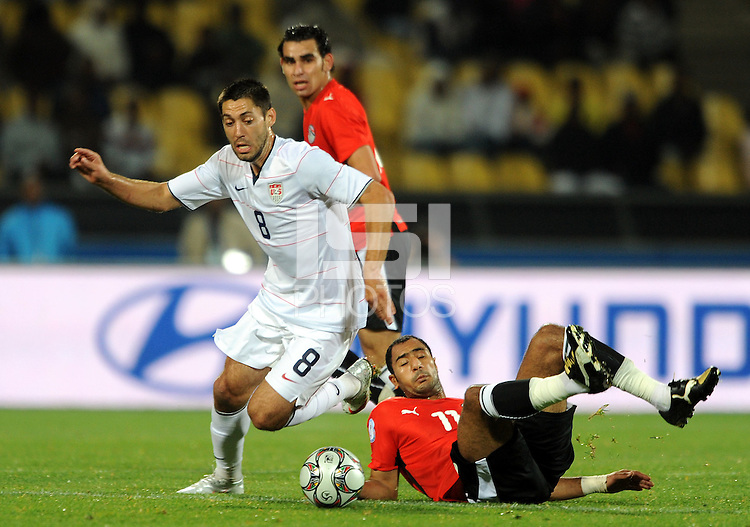 Clint Dempsey (8) of USA and Mohammed Shawky (right) of Egypt. USA defeated Egypt 3-0 during the FIFA Confederations Cup at Royal Bafokeng Stadium in Rustenberg, South Africa on June 21, 2009..