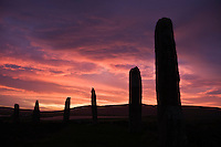 Winter sunrise, Ring of Brodgar, Orkney, Scotland