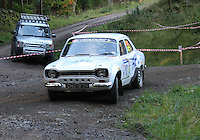 Richard Hill / Patrick Cooper at Junction 6, on Special Stage 1 Craigvinean in the Colin McRae Forest Stages Rally 2012, Round 8 of the RAC MSA Scotish Rally Championship which was organised by Coltness Car Club and based in Aberfeldy on 5.10.12.