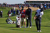 Bubba Watson (Team USA) on the 9th during Saturday Foursomes at the Ryder Cup, Le Golf National, Ile-de-France, France. 29/09/2018.<br /> Picture Thos Caffrey / Golffile.ie<br /> <br /> All photo usage must carry mandatory copyright credit (&copy; Golffile | Thos Caffrey)