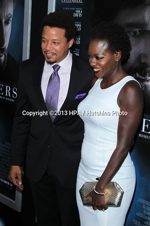 "LOS ANGELES - SEP 12:  Terrence Howard, Viola Davis at the ""Prisoners"" World Premiere at Academy of Motion Picture Arts and Sciences on September 12, 2013 in Beverly Hills, CA"