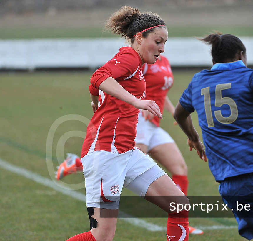 Switzerland U19 - France U19 : Sabrina Ribeaud.foto DAVID CATRY / Nikonpro.be