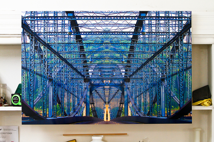 Works Sold - Private Collectors - Smithfield Street Duo - 36 x 24 on high gloss aluminum plate