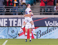, FL - : Rose Lavelle #16 and Morgan Brian #6 of the United States celebrate during a game between  at  on ,  in , Florida.