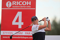 Cristie Kerr (USA) on the 4th tee during Round 2 of the Ricoh Women's British Open at Royal Lytham &amp; St. Annes on Friday 3rd August 2018.<br /> Picture:  Thos Caffrey / Golffile<br /> <br /> All photo usage must carry mandatory copyright credit (&copy; Golffile | Thos Caffrey)