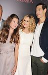 HOLLYWOOD, CA - AUGUST 28: Natasha Calis, Kyra Sedgwick and Matisyahu arrive at the 'The Possession' - Los Angeles Premiere at ArcLight Cinemas on August 28, 2012 in Hollywood, California.