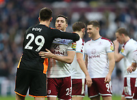 Burnley's Stephen Ward and Nick Pope celebrate at the end of the game<br /> <br /> Photographer Rob Newell/CameraSport<br /> <br /> The Premier League - West Ham United v Burnley - Saturday 10th March 2018 - London Stadium - London<br /> <br /> World Copyright &not;&copy; 2018 CameraSport. All rights reserved. 43 Linden Ave. Countesthorpe. Leicester. England. LE8 5PG - Tel: +44 (0) 116 277 4147 - admin@camerasport.com - www.camerasport.com