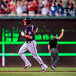 28 April 2017: Washington Nationals first baseman Ryan Zimmerman rounds the bases after leading off the second inning with a solo home run against the New York Mets at Nationals Park in Washington, DC. The Mets defeated the Nationals 7-5 to take the first game of their 3-game weekend series. Mandatory Credit: Ed Wolfstein Photo *** RAW (NEF) Image File Available ***