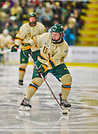29 December 2013:  University of Vermont Catamount Forward Jonathan Turk, a Sophomore from Calgary, Alberta, in second period action against the Canisius College Golden Griffins at Gutterson Fieldhouse in Burlington, Vermont. The Catamounts defeated the Golden Griffins 6-2 to capture the 2013 Sheraton/TD Bank Catamount Cup NCAA Hockey Tournament for the second straight year. Mandatory Credit: Ed Wolfstein Photo *** RAW (NEF) Image File Available ***