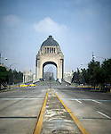 Republic Square, Monumento a la Revolucion, Mexico City, Mexico with quiet traffic on a Sunday taken circa 1990