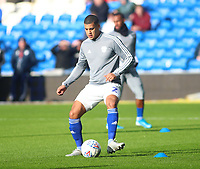 12th January 2020; Cardiff City Stadium, Cardiff, Glamorgan, Wales; English Championship Football, Cardiff City versus Swansea City; Lee Peltier of Cardiff City warms up before the game - Strictly Editorial Use Only. No use with unauthorized audio, video, data, fixture lists, club/league logos or 'live' services. Online in-match use limited to 120 images, no video emulation. No use in betting, games or single club/league/player publications