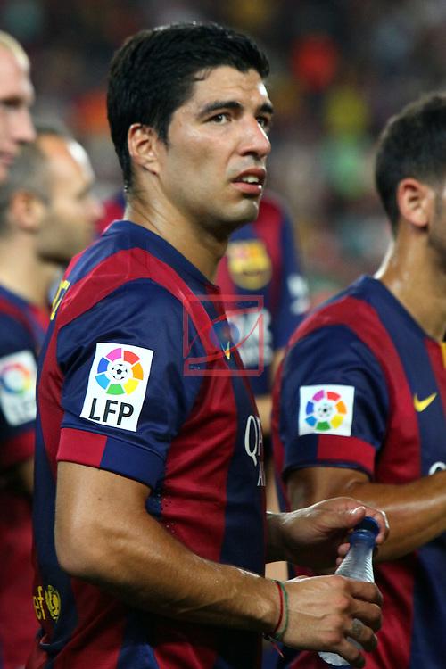 49e Trofeu Joan Gamper.<br /> FC Barcelona vs Club Leon FC: 6-0.<br /> Luis Suarez.