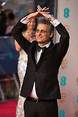 London, UK. 14 February 2016. Sound editor Mark Mangini. Red carpet arrivals for the 69th EE British Academy Film Awards, BAFTAs, at the Royal Opera House. © Vibrant Pictures/Alamy Live News