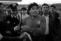 Pix:Michael Steele/SWpix...International Soccer. Argentina v Italy, Cagliari, Italy, 1989...COPYRIGHT PICTURE>>SIMON WILKINSON..Argentina's Diego Maradona..