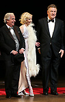 "Henry Winkler, Anne Heche, Alec Baldwin during the Roundabout Theatre Company One-Night Only Benefit Reading Curtain Call for  ""Twentieth Century"" at Studio 54 on April 29, 2019 in New York City."