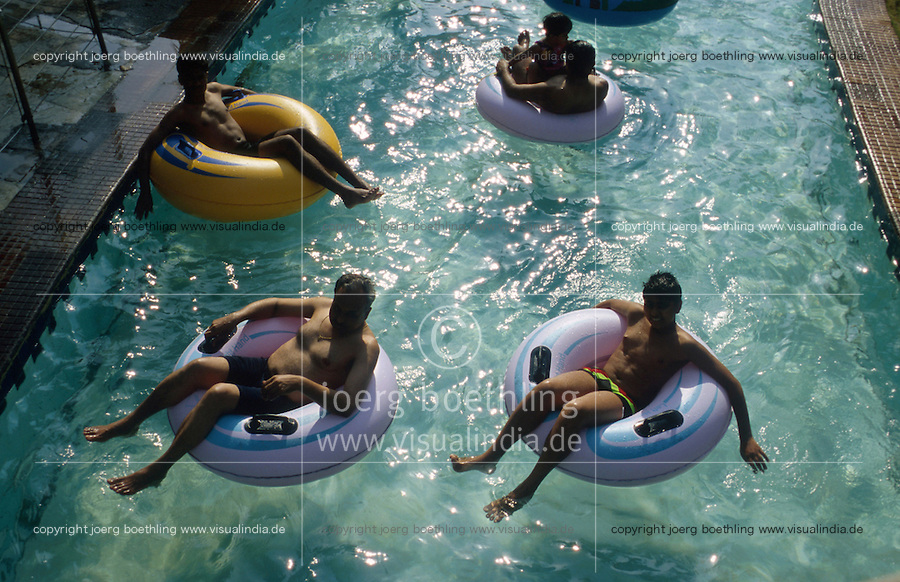 INDIA Mumbai Bombay, Theme Park and artificial swimming bath WATER KINGDOM / INDIEN Metropole Megacity Bombay Mumbai, Freizeit Park und Schwimmbad Water Kingdom