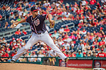 11 September 2016: Washington Nationals pitcher Blake Treinen on the mound against the Philadelphia Phillies at Nationals Park in Washington, DC. The Nationals edged out the Phillies 3-2 to take the rubber match of their 3-game series. Mandatory Credit: Ed Wolfstein Photo *** RAW (NEF) Image File Available ***
