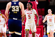 College Park, MD - NOV 29, 2017: Maryland Terrapins guard Kaila Charles (5) gets back on defense during ACC/Big Ten Challenge game between Gerogia Tech and the No. 7 ranked Maryland Terrapins. Maryland defeated The Yellow Jackets 67-54 at the XFINITY Center in College Park, MD.  (Photo by Phil Peters/Media Images International)