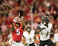 Athens, Georgia - October 6, 2018: Sanford Stadium, the number 2 ranked University of Georgia Bulldogs vs Vanderbilt University Commodores.