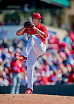 29 February 2020: St. Louis Cardinals top prospect pitcher Ryan Helsley on the mound during a game against the Washington Nationals at Roger Dean Stadium in Jupiter, Florida. The Cardinals defeated the Nationals 6-3 in Grapefruit League play. Mandatory Credit: Ed Wolfstein Photo *** RAW (NEF) Image File Available ***