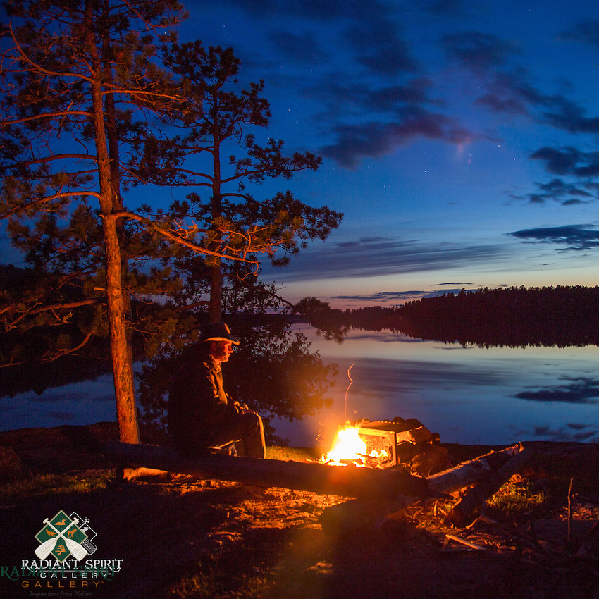 """Spring Campfire on Basswood Lake"""