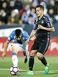 CD Leganes' Unai Bustinza (l) and Real Madrid's Lucas Vazquez during La Liga match. April 5,2017. (ALTERPHOTOS/Acero)