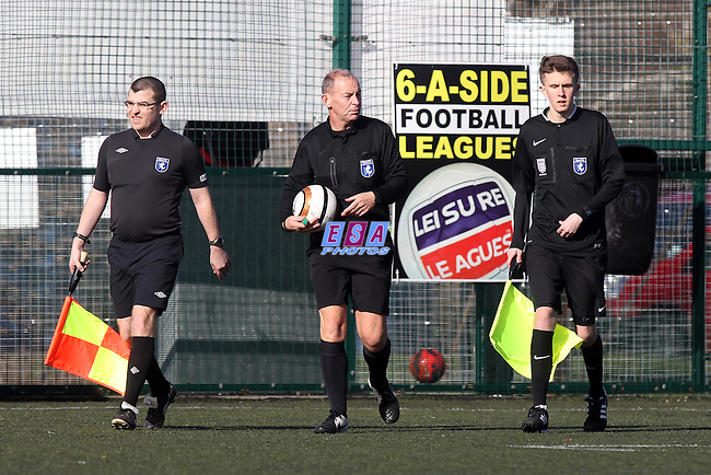 ASHFORD UNITED v FISHER<br /> CAUSEWAY STEEL CHALLENGE CUP SEMI FINAL SUNDAY 1ST MARCH 2015 PITCHSIDE 3G