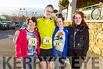 Ready for road at the Optimal Fitness 5 and 10 k run at the Rose Hotel on Monday. <br /> L-r, Margaret, Padraig, Tara and Aedín Dineen from Castlegregory.