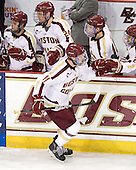 Pat Mullane (BC - 11) - The Boston College Eagles defeated the visiting University of Massachusetts-Amherst Minutemen 2-1 in the opening game of their 2012 Hockey East quarterfinal matchup on Friday, March 9, 2012, at Kelley Rink at Conte Forum in Chestnut Hill, Massachusetts.