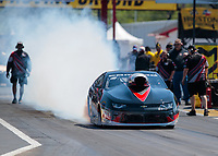 Apr 14, 2019; Baytown, TX, USA; NHRA mountain motor pro stock driver J.R. Carr during the Springnationals at Houston Raceway Park. Mandatory Credit: Mark J. Rebilas-USA TODAY Sports