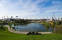 Deutschland, Bayern, Oberbayern, Muenchen: Olympia-Park mit Olympia-Stadion | Germany, Bavaria, Upper Bavaria, Munich: Olympic Park with Olympic Stadium