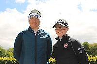 Colm Campbell Jnr (Warrenpoint) and Jessica Ross (Clandeboye) leaders before going out for Round 4 of the Ulster Stroke Play Championships at Galgorm Castle Golf Club, Ballymena, Northern Ireland. 28/05/19<br /> <br /> Picture: Thos Caffrey / Golffile<br /> <br /> All photos usage must carry mandatory copyright credit (© Golffile | Thos Caffrey)