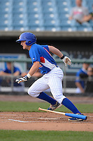 Shortstop Dale Burdick (8) of Summit High School in Spring Hill, Tennessee playing for the Chicago Cubs scout team during the East Coast Pro Showcase on August 2, 2013 at NBT Bank Stadium in Syracuse, New York.  (Mike Janes/Four Seam Images)