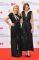 Paloma Faith and Emma Corrin at the British Academy (BAFTA) Television Awards 2019, Royal Festival Hall, Southbank Centre, Belvedere Road, London, England, UK, on Sunday 12th May 2019.<br /> CAP/CAN<br /> &copy;CAN/Capital Pictures