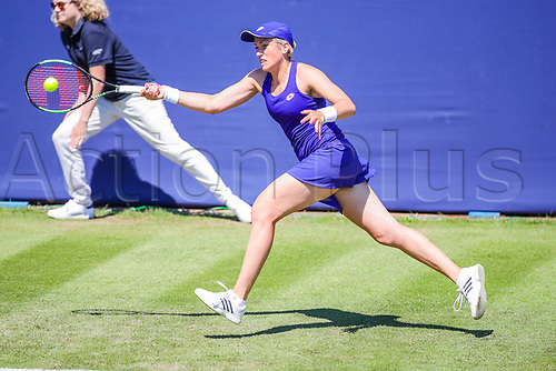 June 18th 2017, Edgbaston Priory Club; Tennis Tournament; Aegon Classic Birmingham; Sunday Qualifiers; Petra Krejsova loses to Elizaveta Kulichkova