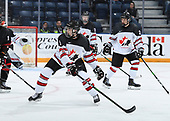MEDICINE HAT, AB - Nov 2 2019: Canada Black vs Canada White during the 2019 World Under-17 Challenge at the Canalta Centre on Oct 31 2019 in Medicine Hat, Alberta, Canada. (Photo by Matthew Murnaghan/Hockey Canada Imaghes)