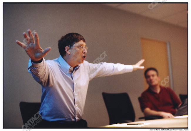 Bill GATES,with a group of Microsoft software engineers in Microsoft's  Redmond, Washington headquarters. June 2002