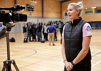 10.09.2018 Silver Ferns Casey Kopua during the Silver Ferns training in Auckland. Mandatory Photo Credit ©Michael Bradley.