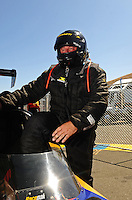 Jul. 17, 2010; Sonoma, CA, USA; NHRA top fuel dragster driver Steven Chrisman during qualifying for the Fram Autolite Nationals at Infineon Raceway. Mandatory Credit: Mark J. Rebilas-