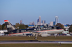 Charlotte NC - Plane landing at the Charlotte Airport